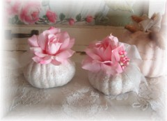 Sweet Chic Sparkle and Rose Pumpkins