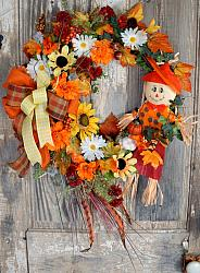 Fall Scarecrow pumpkin Wreath