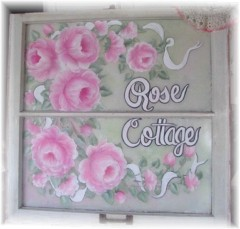 "Beautiful Vintage Romantic Shabby ""Rose Cottage "" Window SOLD"