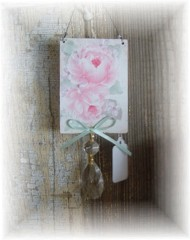 Cottage Rose Ornament, Hook Hanger