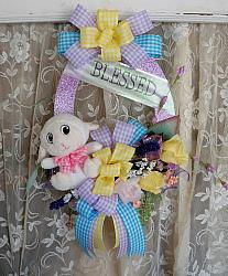 Lamb Wreath, Cottage door Hanger