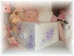 Lavender Hand Painted Elegant Rose Drawer