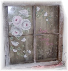 "What a Beauty...Old, Shabby and Romantic ""Sweet Vintage Home, Window Sign SOLD"