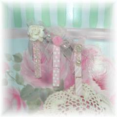 Shabby Cottage  Clothespin Magnets