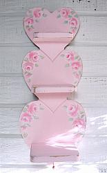 So pretty Pink Hand Painted Heart Shelf