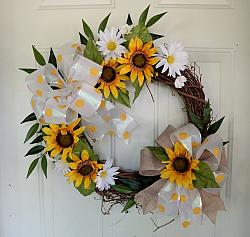End of Summer Sunflower Wreath, Everyday Wreath or Fall