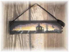 SO CUTE HAND PAINTED HAUNTED HOUSE SIGN