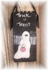 HAND PAINTED TRICK OR TREAT GHOST SIGN