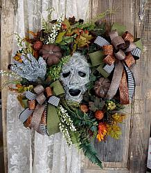 Creepy Mummy Halloween Wreath