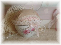 Cute! Teacup Lavender Sachet Pin Cushion