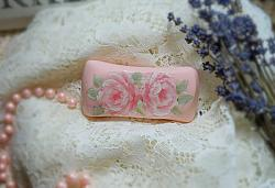 Pretty and Pink Hand Painted Rose Soap