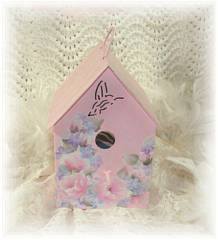 Pink Shabby Cottage Birdhouse -SOLD