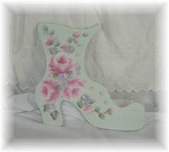 Adorable Handpainted Cottage Shoe
