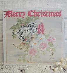 So Pretty Hand Painted Merry Christmas Sign