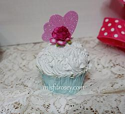 What Charm Pretty White Faux Cupcake
