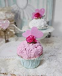 Pink  Cottage Cupcake