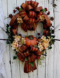Fall  Charm Autumn Pumpkin Wreath