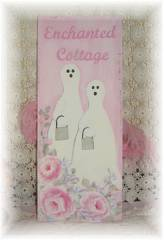 Chic Pink Hand Painted Shabby Ghost Sign