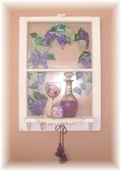 A Special order For cheryl,,,Chic Cottage Grape with Vines Window Painting
