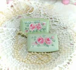 Holiday or Everyday Cottage Hand Painted Rose Soap