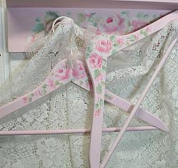 So Pretty  Hand painted Shabby and Chic Clothes Hanger