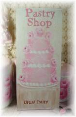 Handpainted Pastry Shop Sign SOLD