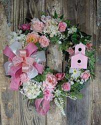 Country Rose Cottage Grapevine Wreath