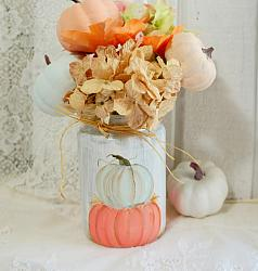 Adorable Pumpkin Jar Hand Painted