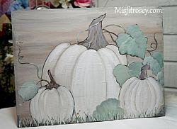 Shabby Chic Farmhouse Pumpkin sign