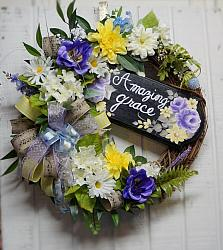 Beautiful Amazing Grace Wreath, Everyday Wreath