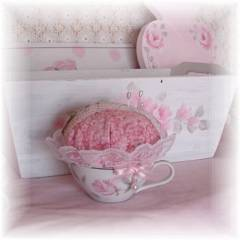 Lavender Teacup Sachet Pin Cushion