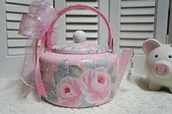 Sweet, Sweet Hand Painted RoseTea Pot/Kettle