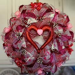 Beautiful Valentines Wreath