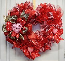 Heart Valentine Wreath