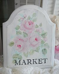 Hand Painted Shabby 'MARKET' sign
