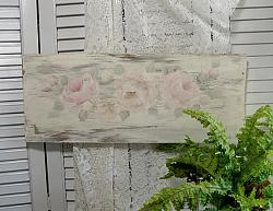 So Soft  Shabby Hand Painted  Rose Sign
