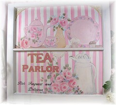 """French Cottage ,""""Tea Parlor """" window signSOLD"""